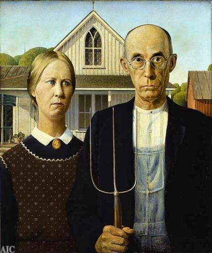 american gothic, views on american agriculture, outdated agriculture, modern agriculture